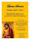 Lenten Services - April 2018
