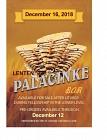 Lenten Palacinke Bar - December 16, 2018